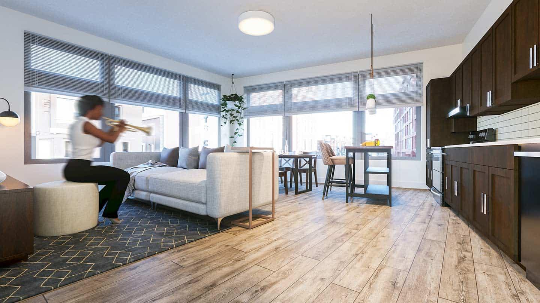 Artesan Lofts Apartment Interior - Unit 17
