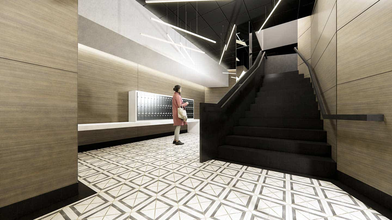 Artesan Lofts Interior - Lobby and Mail Center