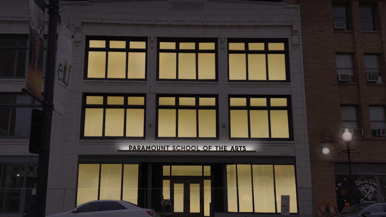 Paramount School of the Arts in Aurora, IL - Exterior Building