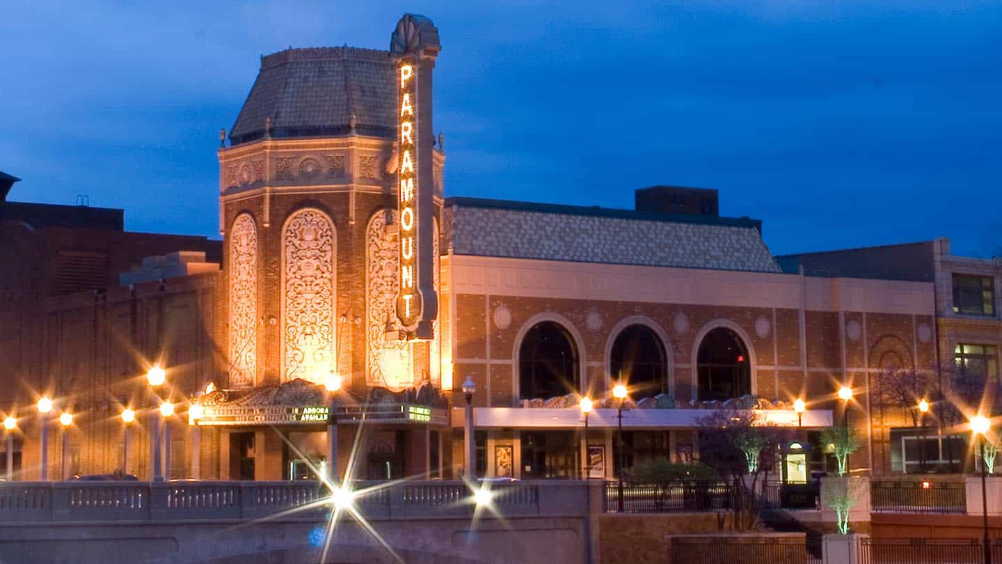 Paramount Theater in Aurora, IL - Exterior Building